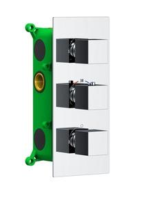 Душевая система Timo скрытого монтажа с термостатом Petruma SX-5039/00SM хром