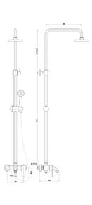 Душевая система Timo Polo SX-1100 Белый
