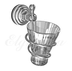 Держатель стакана, стекло Elghansa PRAKTIC PRK-413, хром