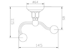 Крючок одинарный Elghansa PRAKTIC PRK-120, хром