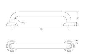 Поручень 32 см Elghansa PRAKTIC PRK-230, хром