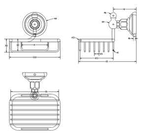Мыльница металлическая Elghansa PRAKTIC PRK-455, хром