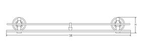 Полка с ограничителем 50 см Elghansa PRAKTIC PRK-550, хром