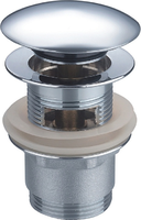 Донный клапан Ceramalux с переливом RD003, хром