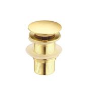 Донный клапан Ceramalux RD011 золото с переливом