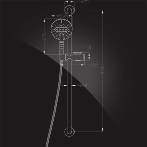 Штанга-поручень Elghansa SHOWER RAIL SB-320