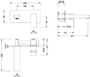 Смеситель для раковины скрытого монтажа Timo Selene 2071/00SM