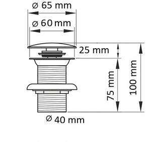 Донный клапан Ceramalux RD001 с переливом,белый