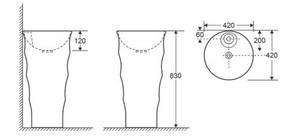 Керамическая напольная раковина Ceramalux G-308