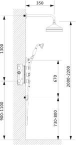 Душевая система скрытого монтажа с термостатом Timo Nelson SX-1391/02SM Антик