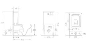 Керамический унитаз безободковый CeramaLux NS 2170