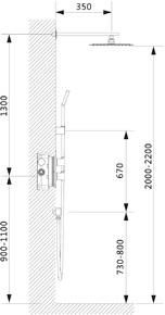 Душевая система скрытого монтажа с термостатом Timo Petruma SX-5059/00SM Хром