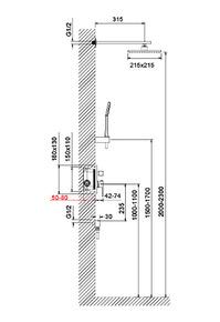 Душевая система скрытого монтажа Selene SX-2069/17SM золото матовое