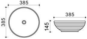 Керамическая раковина Melana MLN-T4004-B18