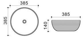Керамическая раковина Melana MLN-T4004-B1
