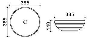 Керамическая раковина Melana MLN-T4004G