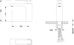 Смеситель для раковины Timo Torne 4361/00F Хром
