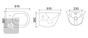 Керамический подвесной унитаз CeramaLux TR2170