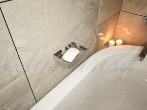 Полка для ванной Elghansa UN-510-Steel 97x135 мм, нержавеющая сталь
