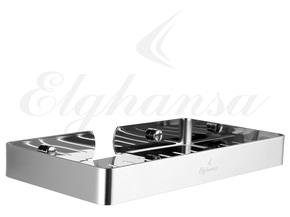 Полка для ванной Elghansa UN-512-Steel 120*230 мм, нержавеющая сталь