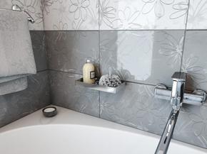 Полка для ванной Elghansa UN-512-Steel 120x230 мм, нержавеющая сталь