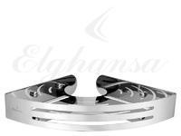 Полка для ванной угловая Elghansa UN-525-Steel 225*225 мм, нержавеющая сталь