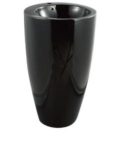Керамическая напольная раковина моноблок CeramaLux B133B,черный глянец