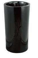 Керамическая напольная раковина моноблок CeramaLux 135В,черный глянец
