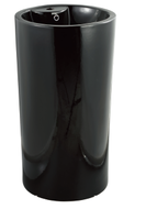 Керамическая напольная раковина моноблок CeramaLux NB 135В,черный глянец