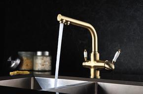 Смеситель для кухни с подключением под  фильтр Lemark Villa LM4861B бронза