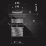 Донный клапан (гидрозатвор) 1-1/4 Elghansa WASTE SYSTEMS WBT-111 для раковины без перелива, хром
