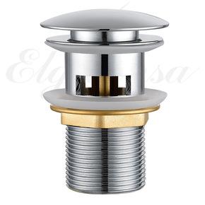 Донный клапан Elghansa WASTE SYSTEMS WBT-122 для раковины с переливом, хром