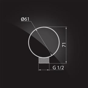Подключение для душевого шланга Elghansa UNIT WS-5N-Black подключение для душевого шланга 1/2, черный