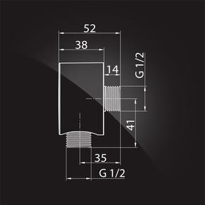 Смеситель Elghansa 34R0583 (Set-63) для скрытого монтажа однорычажный, хром