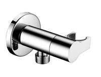 Настенное соединение с керамический запорным клапаном Elghansa UNIT WS-9K, хром